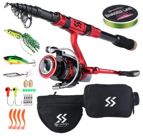 Sougayilang Portable Telescopic Fishing Rod Reel